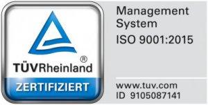 Krettek Separation GmbH once again certified acc. to DIN EN ISO 9001:2015 and DIN EN ISO 3834 through TÜV Rheinland